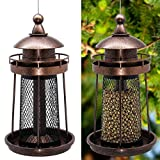 Twinkle Star Wild Bird Feeder Hanging for Garden Yard Outside Decoration, Lighthouse Shaped