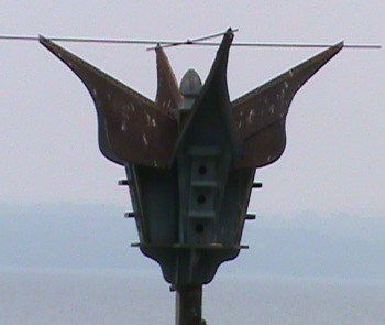 artistically made purple martin house