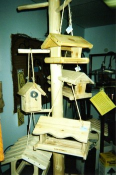 variety of wild bird feeders