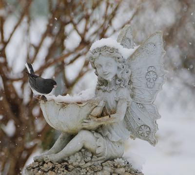 fairy bird feeder